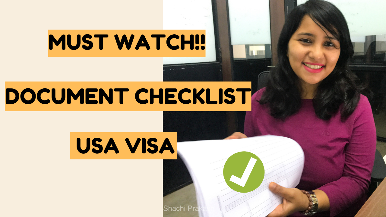 USA B1/B2 visa document checklist for Indians